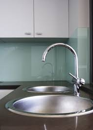 Green Glass Tiles For Kitchen Backsplashes Glass Backsplash No Grout Use Starfire Glass To Eliminate Green