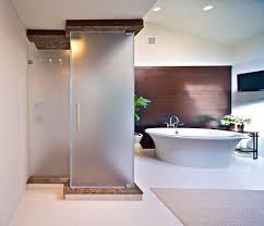 Interior Frameless Glass Door by Frameless Glass Shower Doors Ceiling Bathroom Design Splashy