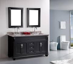 Black Distressed Bathroom Vanity by Cabinet For Also Dark Grey Bathroom Stunning Black And Grey
