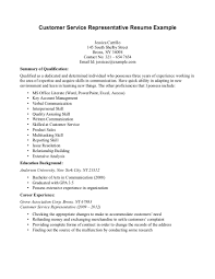 Career Service Specialist Sample Resume Technical Project Manager Free Sample Resume For Customer Service Representative With Education And Summary Of
