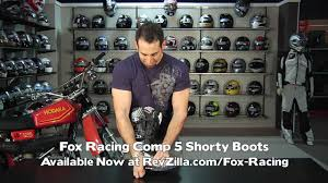 motocross boot straps fox racing comp 5 boots review at revzilla com youtube