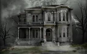 Scary Halloween House Decorations Scary Halloween Pumpkin 2012 Haunted House Hd Wallpaper Of Late