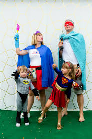 family halloween costume superhero family with super mom and