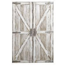 Home Decor Walls Antique White Rustic Barn Doors Art Pier 1 Imports Barn Doors
