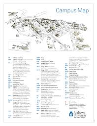 Map Of University Of Michigan by Campus Map Andrews University