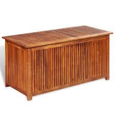 vidaxl deck storage box acacia wood vidaxl com