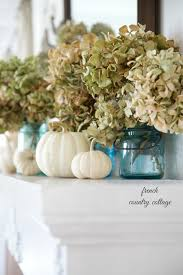 Country Cottage Decorating by Easy Autumn Decorating Blue Jars On The Mantel French Country