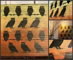 ombre owl artwork from dollar store halloween decor the v spot