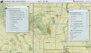 New Mexico County Map New Mexico Watch U2013 Active Wildfire Mapping Site Earth Data