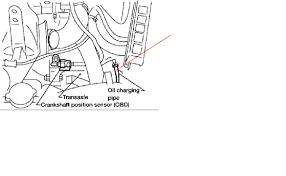 nissan altima 2005 crankshaft sensor 1998 nissan altima gxe i check and or add transmission fluid leak