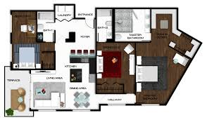 Modern Family Dunphy House Floor Plan by Autocad Floor Plan Rendered In Photoshop Rendered Floor Plans