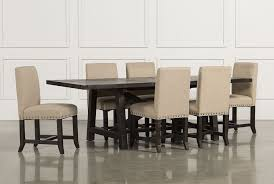 living set jaxon 7 piece rectangle dining set w upholstered chairs living