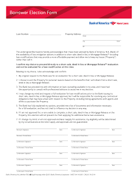 Power Of Attorney Pdf Form by Free Bank Of America Borrower Election Form Pdf Template Form