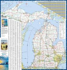 Large Map Of Usa by Large Detailed Map Of Michigan With Cities And Towns