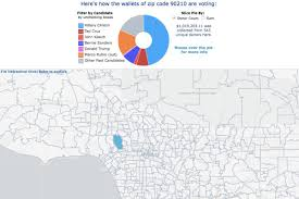 Zip Code Map Of Los Angeles by The Map Of La U0027s Presidential Picks Is Pretty Predictable Curbed La