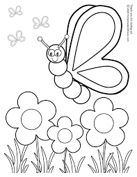 butterfly with flowers coloring pages silly butterfly coloring