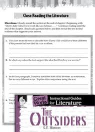 The Outsiders Close Reading and Text Dependent Questions Teacher Created Materials