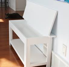 White Entryway Table by Simple Flip Top Storage Bench Entry Way Tutorials Pinterest