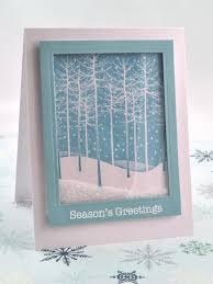falling snow holiday shaker card hgtv
