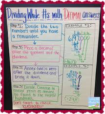 Dividing Whole Numbers with Decimals Answers Anchor Chart png Dividing Decimals