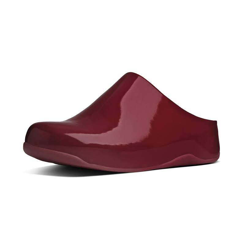 Fitflop Shuv Patent Slip On Mules Red 5 Medium (B,M)