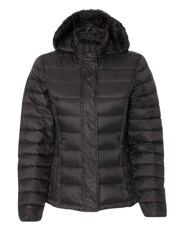Weatherproof 17602W 32 Degrees Hooded Packable Down Jacket Black L