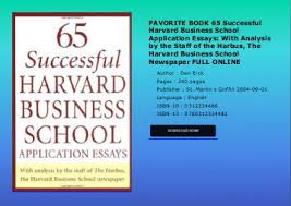 FAVORITE BOOK    Successful Harvard Business School Application Essays  With Analysis by the Staff of Yumpu