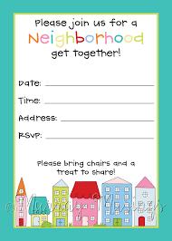 Halloween Free Printable Invitations Neighborhood Block Party Invitation Freeprintable Printables