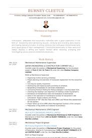 Resume Samples For Experienced Mechanical Engineers by Maintenance Supervisor Resume Samples Visualcv Resume Samples