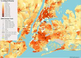 Map New York City new york city poverty map u2014 visualizing economics