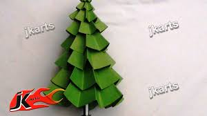 how to make paper christmas tree diy christmas decorations jk