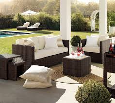 Deep Seat Patio Chair Cushions Resin Wicker Outdoor Patio Furniture Sets 5 Pc Conversation Set