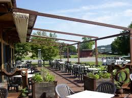 Enclosing A Pergola by Restaurant Owner U0027s Pergola Benefits Retractable Deck U0026 Patio Awnings