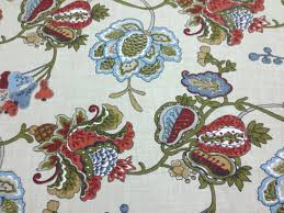 terra cotta jacobean fabric upholstery fabric by the yard home