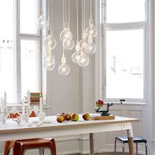 lights for over kitchen table cluster of e27 lamps over the dining table kitchen dining
