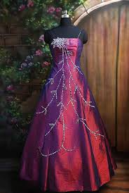 Long Purple Strapless Prom Dress 2011