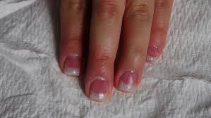 acrylic nails short pink and white glitter nails youtube