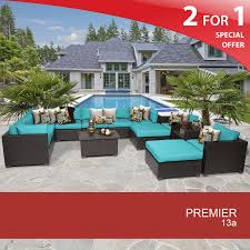 Resin Wicker Patio Furniture Sets - premier 13 piece outdoor wicker patio furniture set 13a