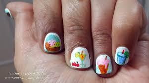 nail art challenge chill me ice cream u0026 cocktail nail art