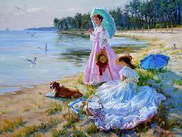 peinture de bord de mer summer saveur douce artistes contemporains russes alexander