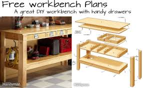 Plans For Building A Wooden Workbench by Build This Simple Workbench With Drawers Woodwork City Free