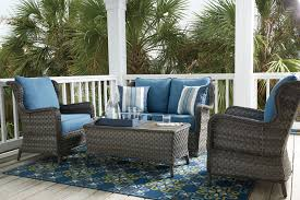 Outdoor Seating by Abbots Court Blue Gray 4 Piece Outdoor Seating Set For 959 94