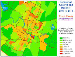 Texas Map Austin by Austin 2000 2010 The Urban Core Mostly Lost Population Austin