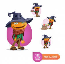 halloween characters clipart 19 halloween characters in 1900 poses only 24 mightydeals