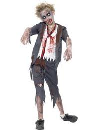 Girls Zombie Halloween Costumes Zombie Costume Elegant Moments 9854 Small Blue