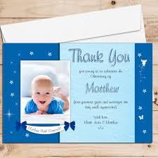 Invitation Cards Baptism 10 Personalised Boys Star Glow Christening Baptism Thank You Photo