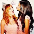zendaya and bella thorne kissing on the lips