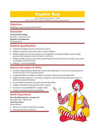 Fast Food Resume Samples by Fast Food Worker Resume Formats Csat Co