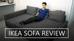 ikea friheten sofa bed review youtube