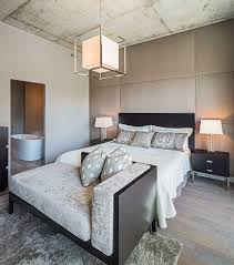 neutral color palette bedroom transitional with baseboards wooden
